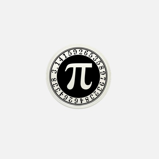 Pi sign in circle Mini Button