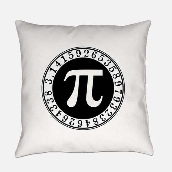 Pi sign in circle Everyday Pillow