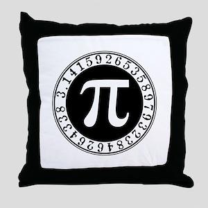 Pi sign in circle Throw Pillow
