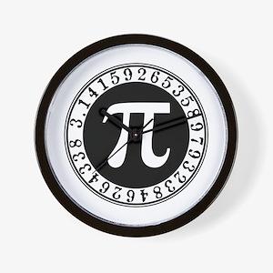 Pi sign in circle Wall Clock
