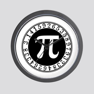 Pi sign in circle Wall Clock