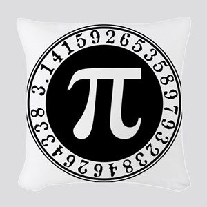 Pi sign in circle Woven Throw Pillow
