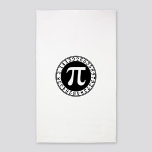 Pi sign in circle Area Rug