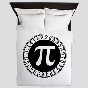 Pi sign in circle Queen Duvet