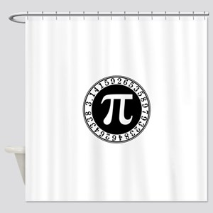 Pi sign in circle Shower Curtain