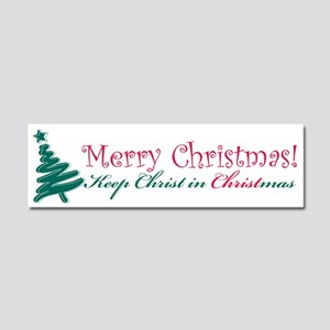 Merry Christmas tree Car Magnet 10 x 3