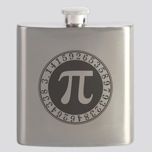 Pi sign in circle Flask