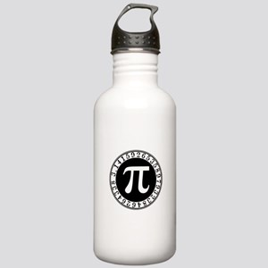 Pi sign in circle Sports Water Bottle
