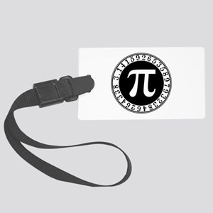 Pi sign in circle Large Luggage Tag