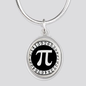 Pi sign in circle Necklaces