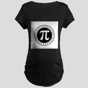 Pi sign in circle Maternity T-Shirt