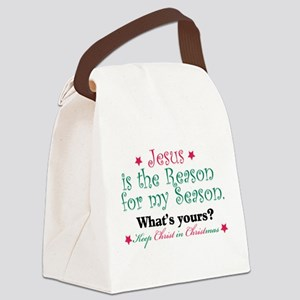 Jesus is my reason Canvas Lunch Bag