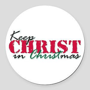 Keep Christ rs Round Car Magnet