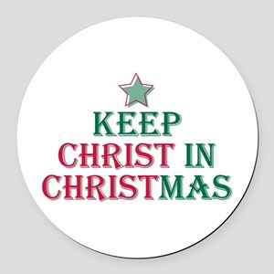 Keep Christ star Round Car Magnet