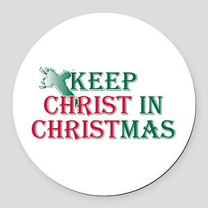 Keep Christ Cross Round Car Magnet