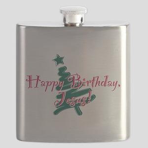 Birthday Jesus Flask