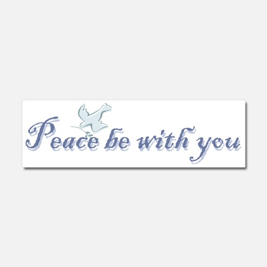 peace_with_youbs.png Car Magnet 10 x 3