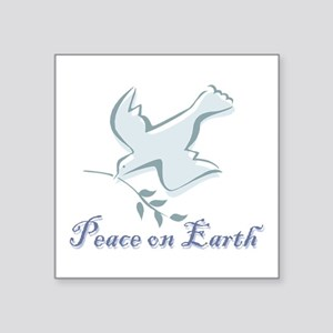 "Peace_earthbs Square Sticker 3"" X 3"""