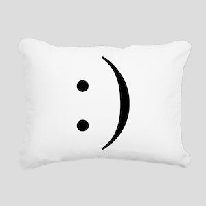 Colon Smiley Rectangular Canvas Pillow