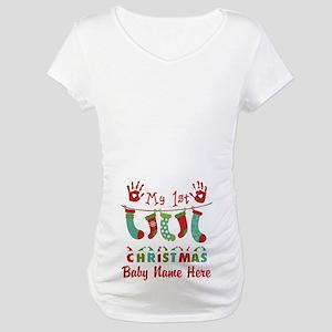 Custom! My 1st Xmas Maternity T-Shirt