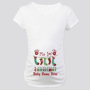 66a5c8bf1f33 Babys First Christmas Maternity T-Shirts - CafePress