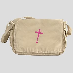 Exclamation-Cross pink Messenger Bag