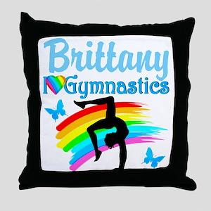 WINNING GYMNAST Throw Pillow
