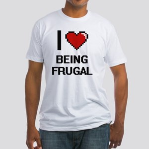 I Love Being Frugal Digitial Design T-Shirt