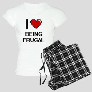 I Love Being Frugal Digitia Women's Light Pajamas