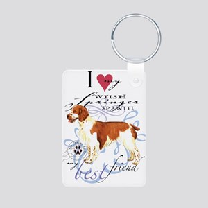 Welsh Springer Spaniel Aluminum Photo Keychains