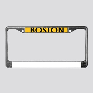 BOSTON Black on Yellow License Plate Frame