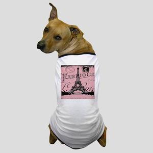 modern girly pink paris Dog T-Shirt