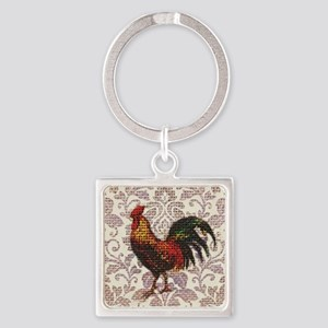 french country vintage rooster Square Keychain