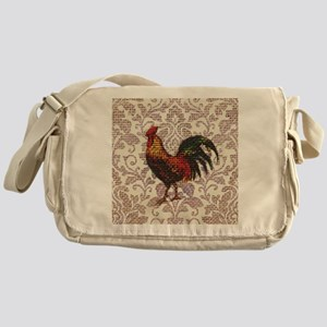 french country vintage rooster Messenger Bag