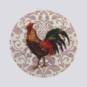french country vintage rooster Round Ornament
