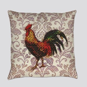 french country vintage rooster Everyday Pillow