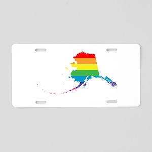 alaska rainbow Aluminum License Plate