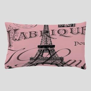 modern girly pink paris Pillow Case