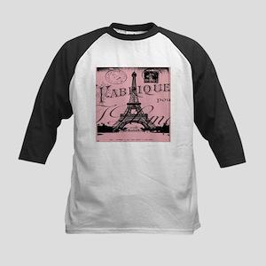 modern girly pink paris Baseball Jersey