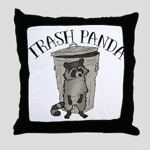 Raccoon Trash Panda Throw Pillow