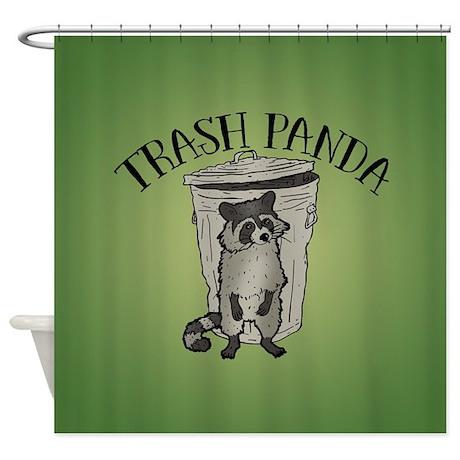 Raccoon Trash Panda Shower Curtain
