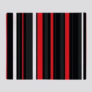 Red white and black. Throw Blanket