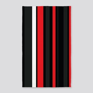 Red white and black. Area Rug