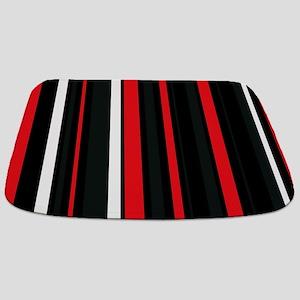 Red white and black. Bathmat