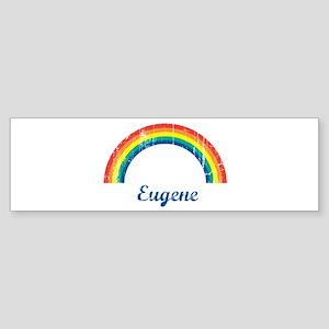 Eugene (vintage rainbow) Bumper Sticker