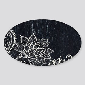 white lace black chalkboard Sticker