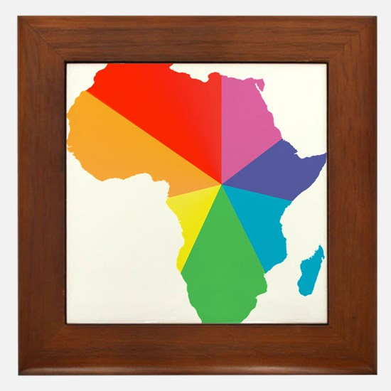 africa spectrum Framed Tile