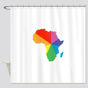 africa spectrum Shower Curtain
