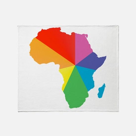africa spectrum Throw Blanket