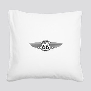 Route 66 Square Canvas Pillow